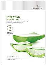 Kup Nawilżająca maska na tkaninie z wyciągiem z aloesu - BeauuGreen Hydrating Aloe Essence Mask