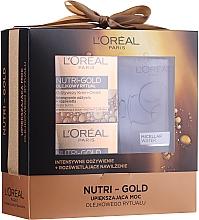 Kup Zestaw - L'Oreal Nutri Gold (cr/mask 50 ml + cr/oil 50 ml + micell/wat 200 ml)