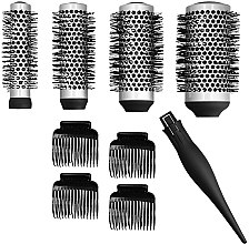 Kup Zestaw szczotek i klipsów do stylizacji włosów - Lussoni Waves To Go (4 x brush + 4 x h/clips)