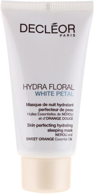 Wygładzająca maska nawilżająca do twarzy na noc - Decléor Hydra Floral White Petal Skin Perfecting Hydrating Sleeping Mask — фото N1