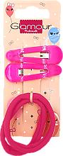 Kup Spinki i gumki do włosów, 417620, różowe - Glamour