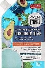 Kup Szampon do włosów dodający objętości Niebieska glinka i olej łopianowy - FitoKosmetik Przepisy ludowe
