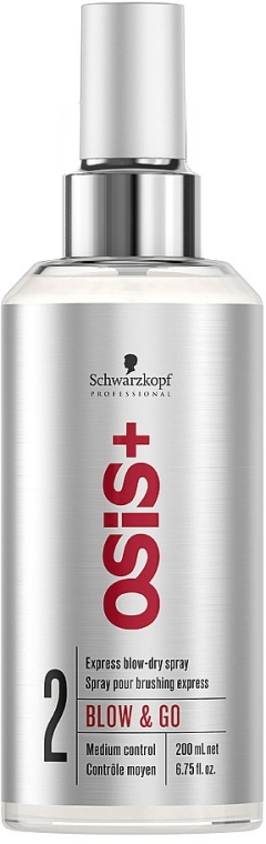 Spray ułatwiający rozczesywanie i suszenie włosów - Schwarzkopf Professional OSiS+ Blow & Go Dry Spray