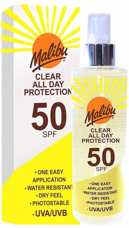 Spray przeciwsłoneczny do ciała SPF 50 - Malibu Clear All Day Protection — фото N1