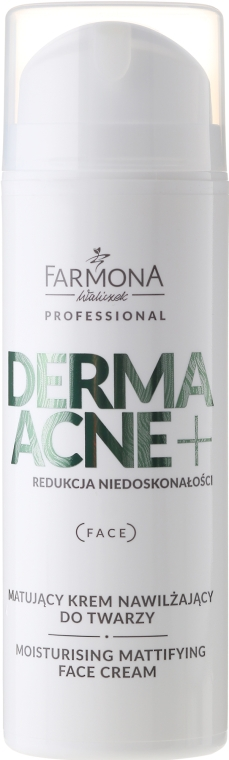 Matujący krem nawilżający do twarzy z kwasami AHA - Farmona Professional Dermaacne+