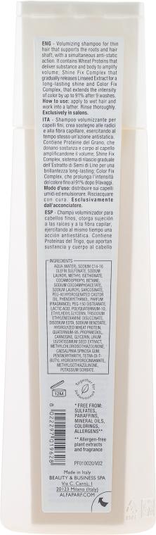 Szampon dodający włosom objętości - Alfaparf Semi di Lino Volume Magnifying Shampoo — фото N2
