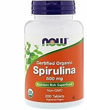 Kup Spirulina ekologiczna bez GMO - Now Foods Certified Organic Spirulina Tablets