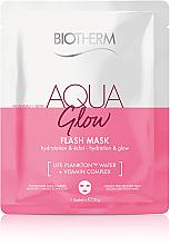 Kup Rozświetlająca maska w płachcie - Biotherm Aqua Glow Flash Mask