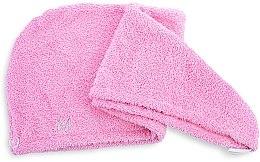 Kup Różowy ręcznik-turban do włosów (68 x 26 cm) - Makeup