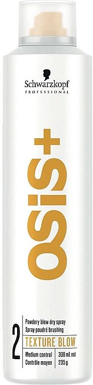 Suchy sprawy do włosów - Schwarzkopf Professional Osis+ Texture Powdery Blow Dry Spray