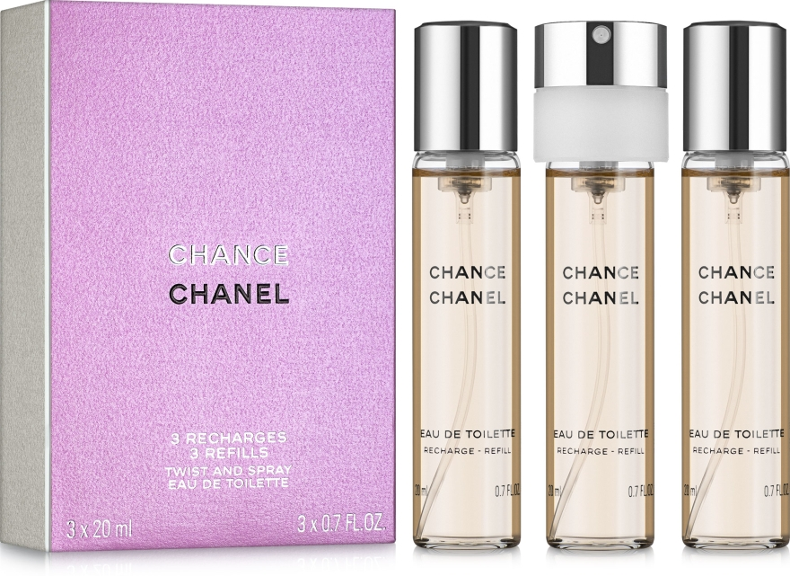 Chanel Chance - Woda toaletowa (trzy wymienne wkłady) — фото N1