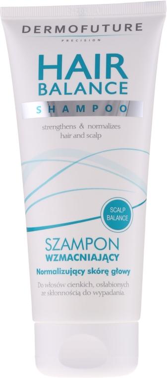 Wzmacniający szampon do włosów cienkich i osłabionych - DermoFuture Hair Balance Shampoo