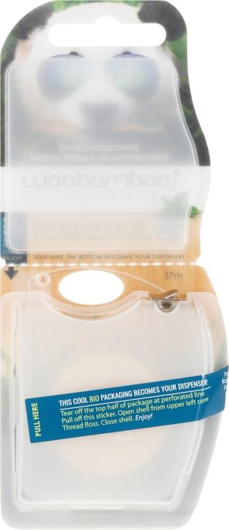 Biodegradowalna jedwabna nić dentystyczna - WooBamboo Eco-Awesome Natural Floss — фото N1
