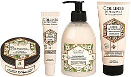 Kup Zestaw - Collines De Provence Almond Butter (shr/gel/200ml + soap/300ml + b/balm/150ml + lips/balm/15ml)