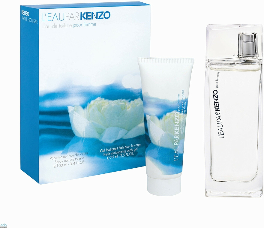 Kenzo L'Eau Par Kenzo Pour Femme - Zestaw (edt/100ml + b/gel/75ml) — фото N1