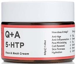 Kup Przeciwzmarszczkowy krem nawilżający do twarzy i szyi - Q+A 5-HTP Face & Neck Cream