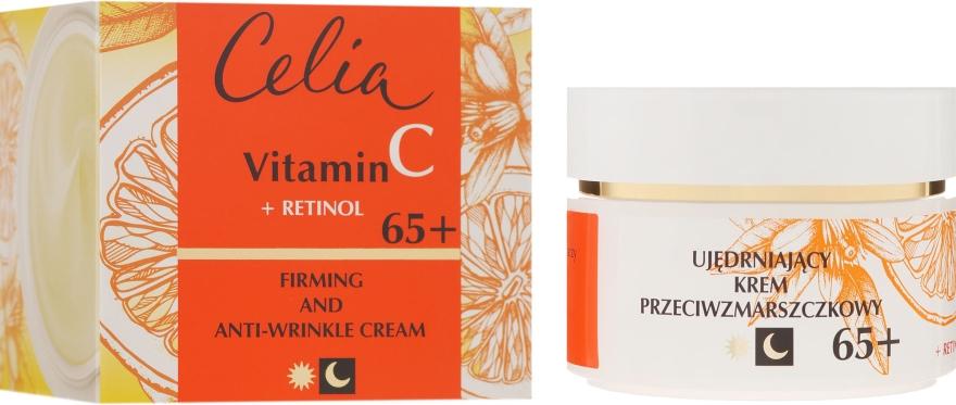 Ujędrniający krem przeciwzmarszczkowy na dzień i noc Witamina C + retinol 65+ - Celia Witamina C
