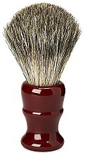 Kup Pędzel do golenia, czerwony uchwyt - Acca Kappa Pure Badger Shaving Brush