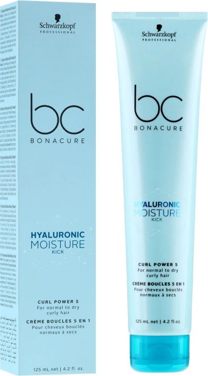 Nawilżający krem do normalnych i suchych włosów kręconych - Schwarzkopf Professional BC Bonacure Hyaluronic Moisture Kick Curl Power 5