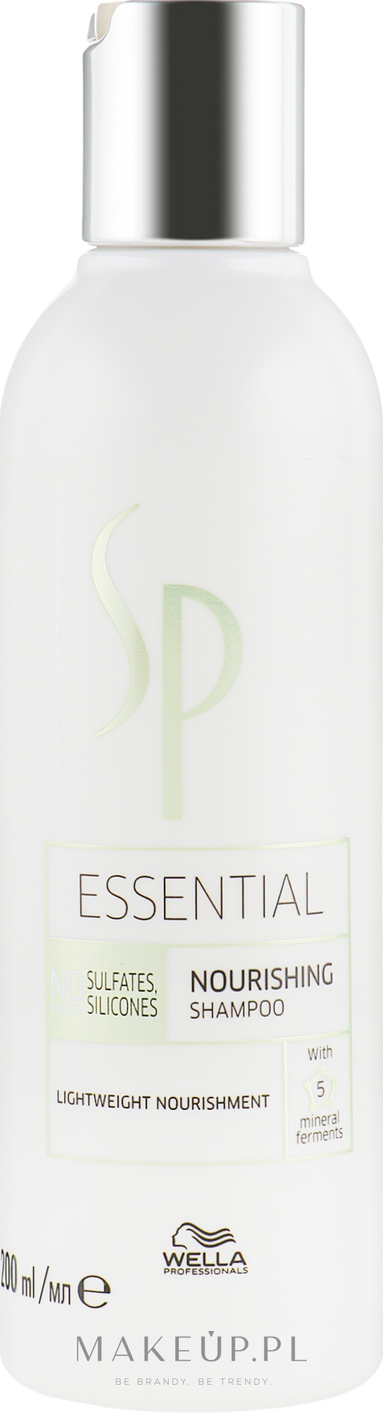 Odżywczy szampon do włosów bez obciążania - Wella SP Essential Nourishing Shampoo — фото 200 ml