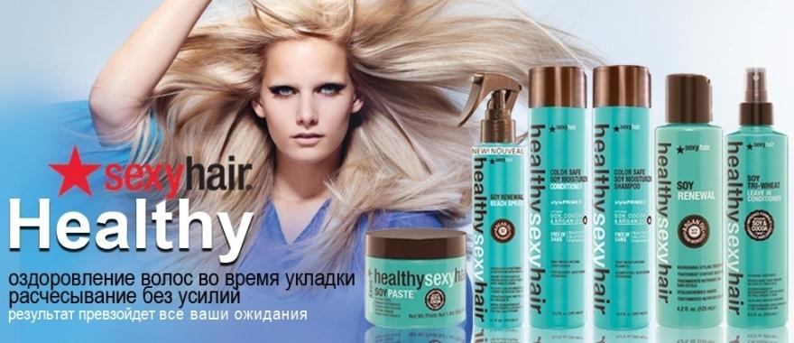 Odżywka z mlekiem sojowym do włosów normalnych i farbowanych - SexyHair HealthySexyHair SoyMilk Conditioner — фото N4