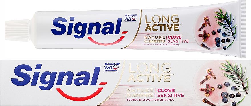 Pasta do zębów - Signal Long Active Nature Elements Clove Sensitive — фото N1