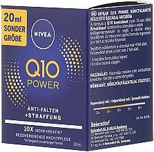 Ujędrniający krem na noc przeciw zmarszczkom - Nivea Q10 Power — фото N2