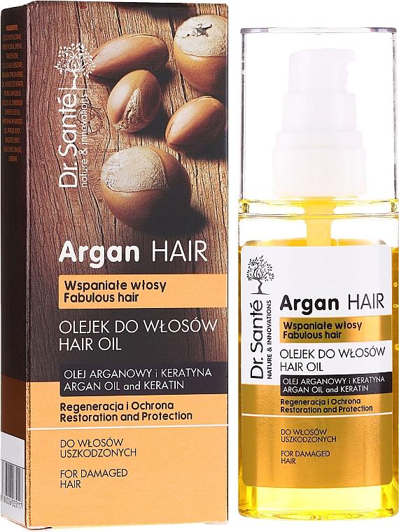 Olejek do włosów Olej arganowy i keratyna - Dr. Sante Argan Hair