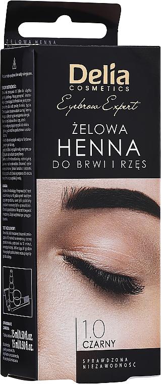Żelowa henna do brwi (czarna) - Delia Eyebrow
