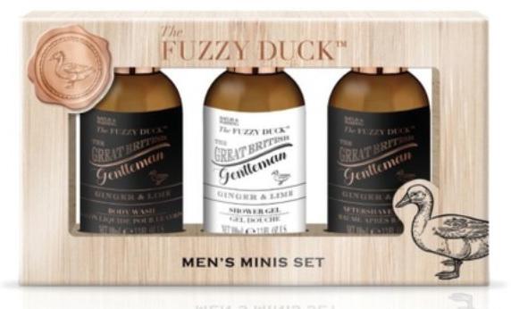 Zestaw - Baylis & Harding Men's Fuzzy Duck Ginger & Lime Luxury Grooming Essentials (ash/balm/100ml+shm/100ml+sh/gel/100ml) — фото N1