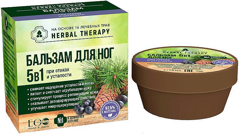 Balsam 5 w 1 do stóp na obrzęki i zmęczenie - ECO Laboratorie Herbal Therapy — фото N1