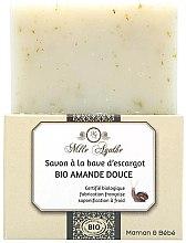 Kup Organiczne mydło ze śluzem ślimaka Słodkie migdały - Mlle Agathe