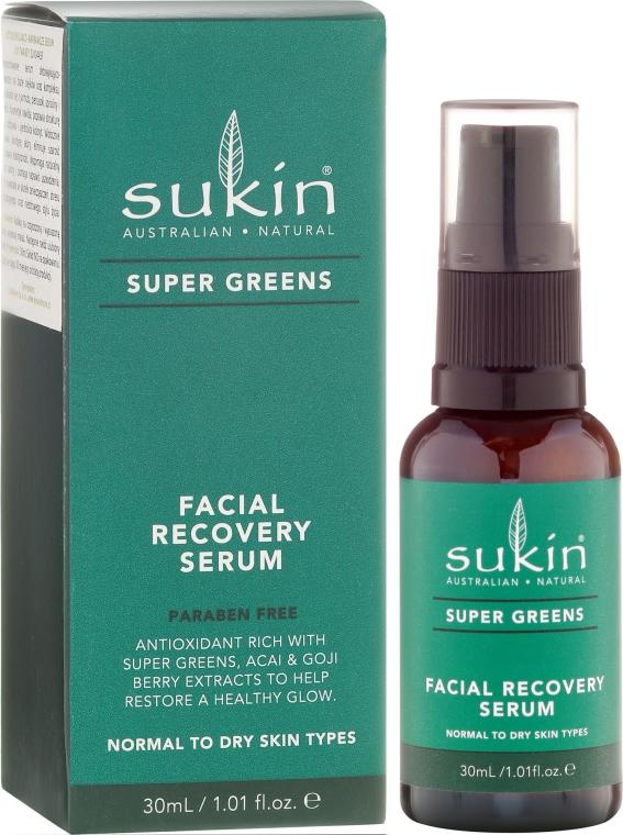 Regenerujące serum do twarzy - Sukin Super Greens Facial Recovery Serum — фото N1