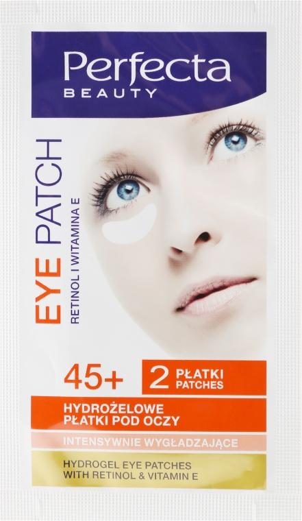 Hydrożelowe płatki pod oczy z retinolem i witaminą E 45+ - Perfecta Hydrogel Eye Patches — фото N1