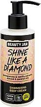 Kup Rozświetlający krem do ciała z brokatem z ekstraktami z granatu i wanilii i olejami z awokadow i kokosowym - Beauty Jar Shimmering Body Cream