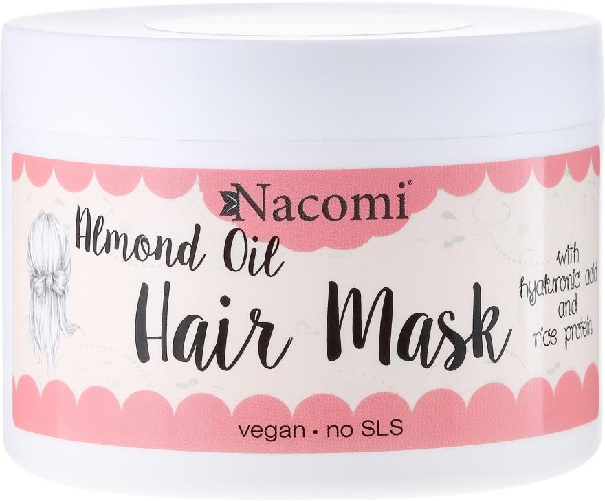 Maska do włosów z olejem ze słodkich migdałów, kwasem hialuronowym i proteinami ryżu - Nacomi Almond Oil Hair Mask — фото N1