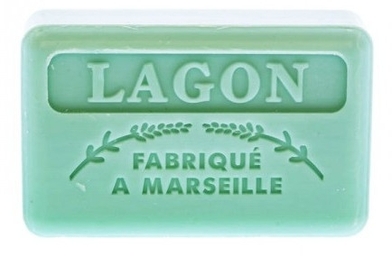 Marsylskie mydło w kostce Laguna - Foufour Savonnette Marseillaise Lagon — фото N1