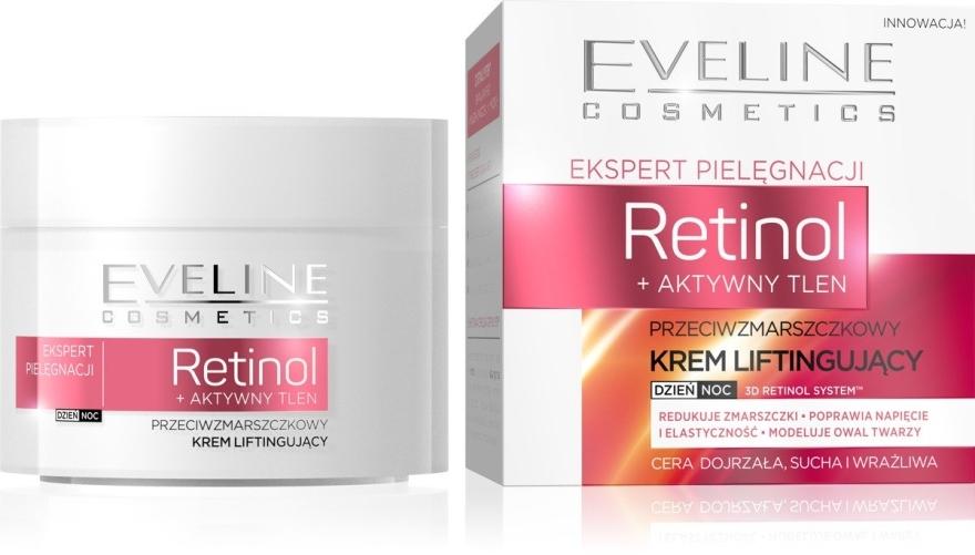 Przeciwzmarszczkowy krem liftingujący do twarzy - Eveline Cosmetics Skin Care Expert Retinol Lifting Cream