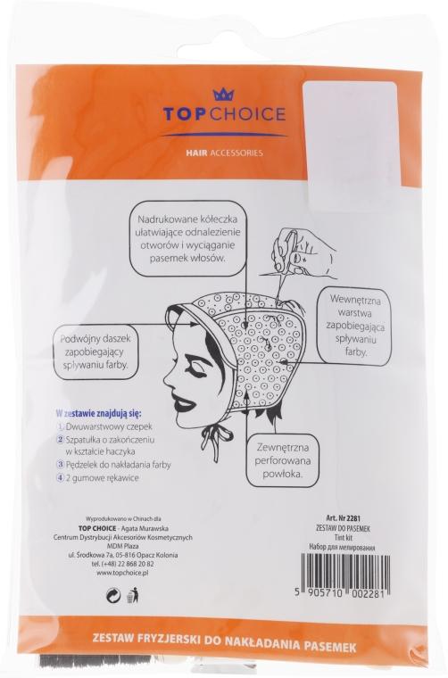 Zestaw akcesoriów do farbowania włosów 2281 - Top Choice — фото N2