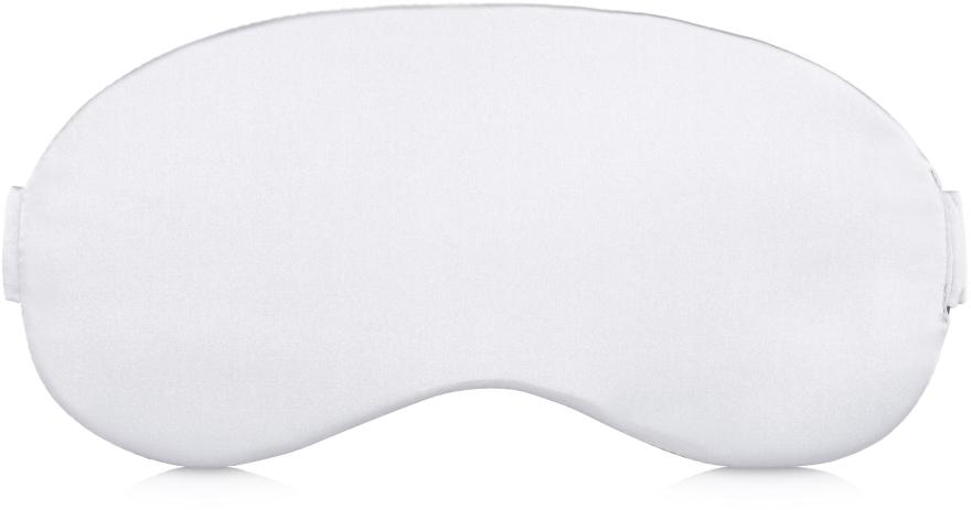 Maska do snu Soft Touch, biała (20 x 8 cm) - Makeup — фото N3