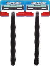 Kup PRZECENA! Maszynki do golenia bez wymiennych wkładów, 48 szt. - Super-Max Long Handle 2 *