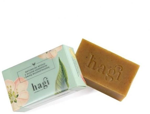 Naturalne mydło z olejem konopnym i gałką muszkatołową - Hagi Ziemia