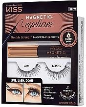 Kup Zestaw - Kiss Magnetic Eyeliner & Lash Kit Lure (eyeliner/5g + lashes)