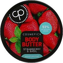 Kup Nawilżające masło do ciała Truskawka i bazylia - Cosmepick Body Butter Strawberry & Basil