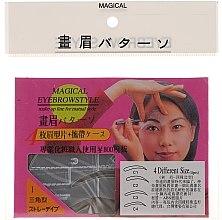Kup Szablon do makijażu brwi, rozmiar C1, C2, C3, C4 - Magical Eyebrow Style