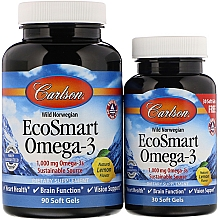 Kup Zestaw suplementów z kwasem Omega-3 - Carlson Labs EcoSmart Omega-3 (gel 90 caps + gel 30 caps)