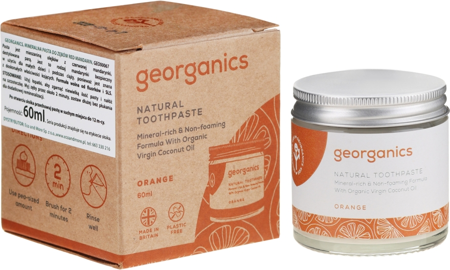 Naturalna pasta minerlna do zębów - Georganics Red Mandarin Natural Toothpaste