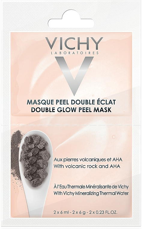 Peelingująca maska rozświetlająca - Vichy Double Glow Peel Face Mask Review — фото N1