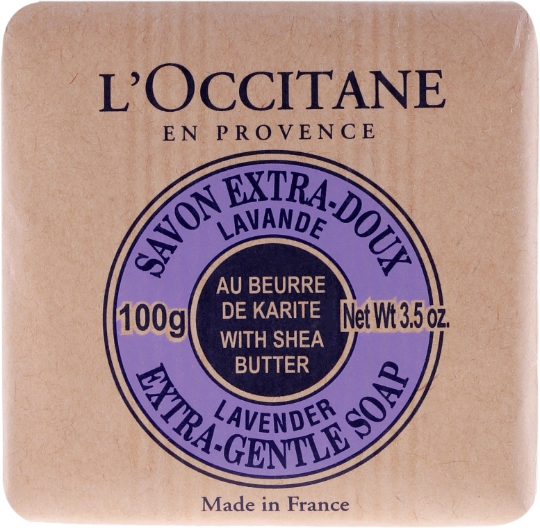 Lawendowe mydło Masło shea - L'Occitane Shea Butter Extra Gentle Soap-Lavender — фото N2