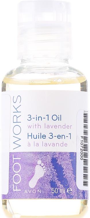 Olejek lawendowy do stóp - Avon Foot Works 3-in-1 Oil With Lavender